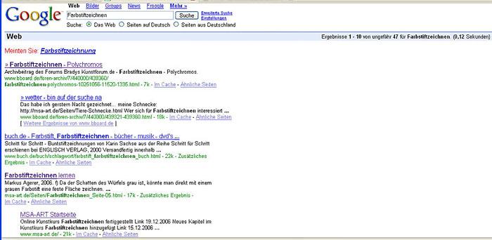 Google Suchergebnisse für Farbstiftzeichnen