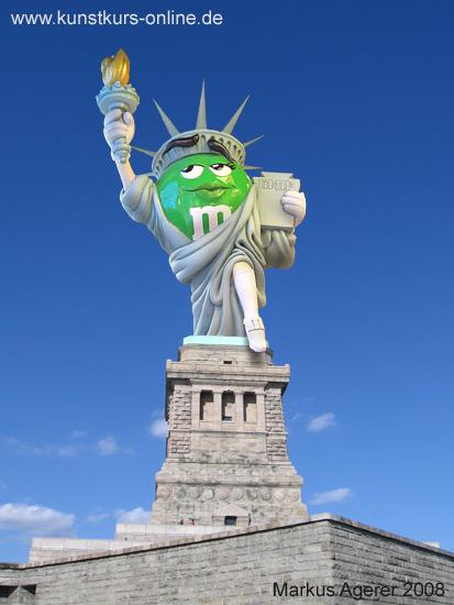 M&M Freiheitsstatue
