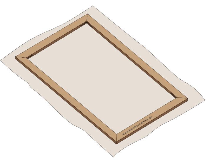 einen keilrahmen selber bauen anleitung. Black Bedroom Furniture Sets. Home Design Ideas