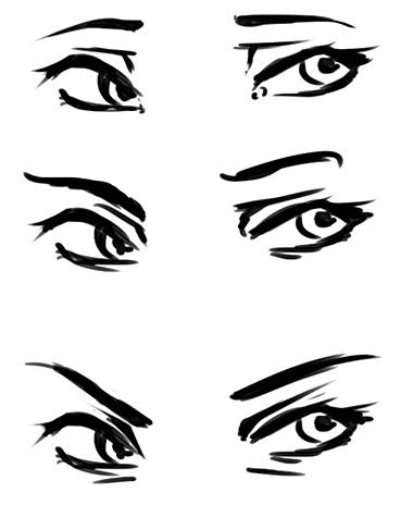 Manga Augen Mund Zeichnen