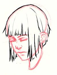 manga-haare zeichnen