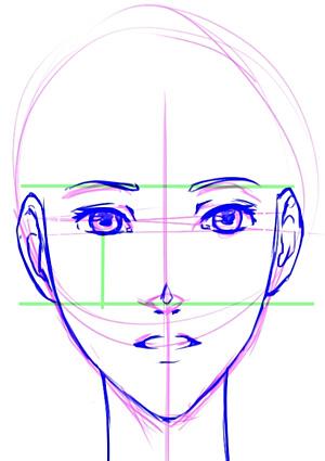 Manga Kopf Gesicht Zeichnen