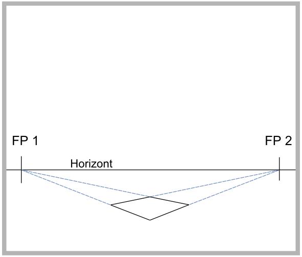 dreipunktperspektive perspektive mit drei fluchtpunkten zeichnen. Black Bedroom Furniture Sets. Home Design Ideas