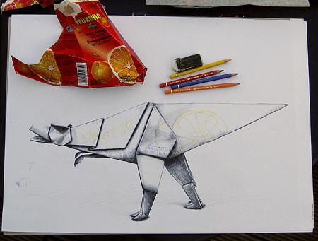 Zeichnung Papierkrieger 4