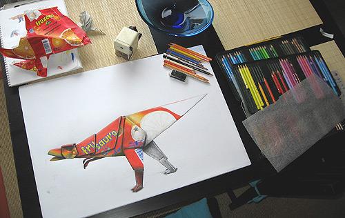 T-Rex zeichnen