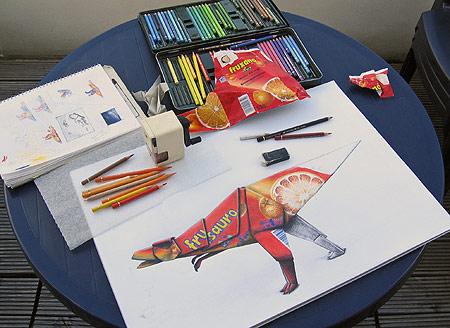 Zeichnen mit Farbstiften