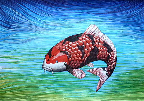 katze mit fisch malen, einen fisch zeichnen & malen, Design ideen