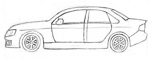 auto zeichnen