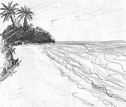 seiten zeichnen technik landschaften