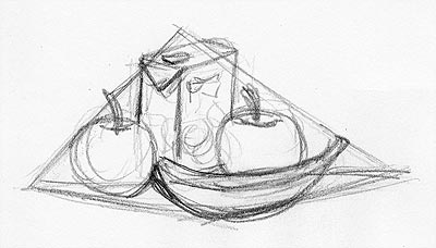 stillleben zeichnen und malen. Black Bedroom Furniture Sets. Home Design Ideas