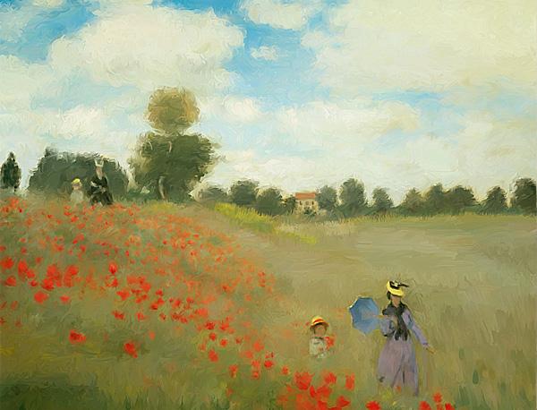 Das Mohnfeld Bei Argenteuil Claude Monet Kunstkurs Online Blog